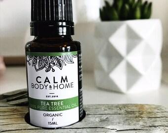 Organic Tea Tree Pure Therapeutic Grade Essential Oil - Melaleuca alternifolia oil