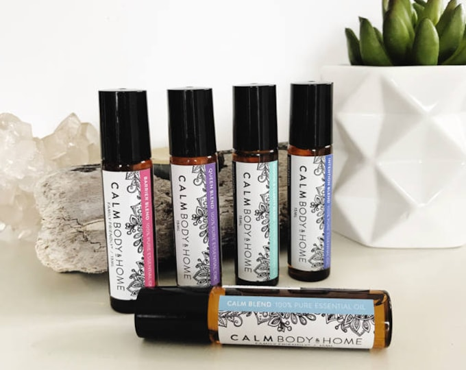 Featured listing image: Roller Balls - Barrier, Calm, Queen, Intention and Soothe & Clarity