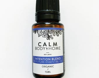 Intention organic essential oil blend