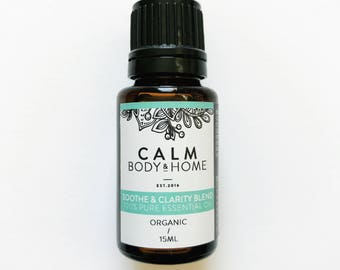 Soothe & Clarity Organic Pure Essential Oil Blend