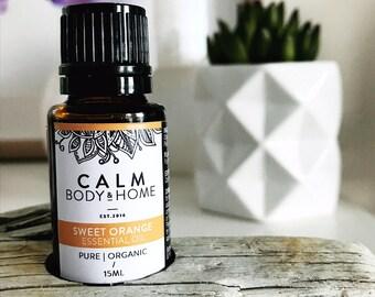 Organic Sweet Orange Pure Essential Oil, Therapeutic Grade - Citrus Sinensis Peel Oil
