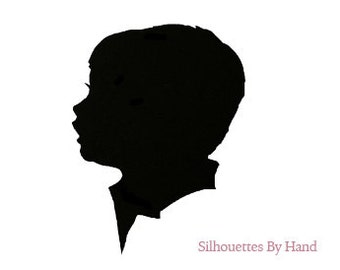 Freehand-scissored Silhouette portrait, made from your emailed photograph