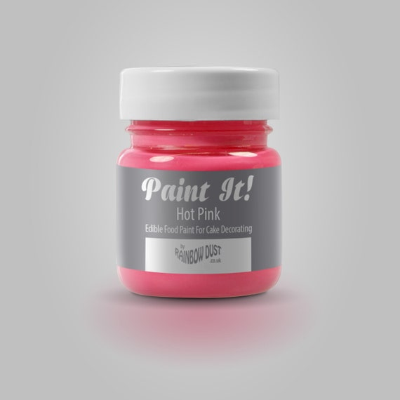 Edible Hot Pink Food Paint by Rainbow Dust in a 25g Pot