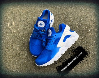 5506b5abd7ef80 Blue Magic Nike Huarache Custom
