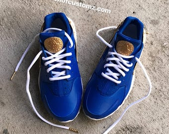 cc5d474216a4 Blue Crush Nike Huarache Custom