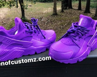 best cheap 5deea 46e1e Purple Grapes Nike Huarache Customs
