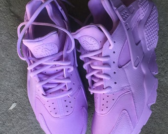 newest collection ee678 624eb Lavender Purple Nike Huarache Customs
