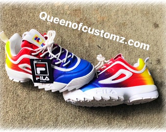 1c06bee05f81 Rainbows Custom Fila Disruptor