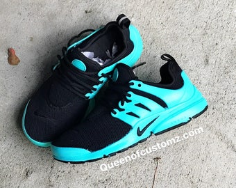 new product fa421 240ab Turquoise and Black Nike Presto Custom