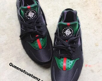 best service e2c01 6bd08 ... air vapormax flyknit Boost 350 LV huarache running shoes 5. Black  Inspired Nike huaraches custom ...