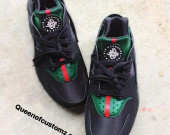 8c8ff904824d Black Inspired Nike huaraches custom