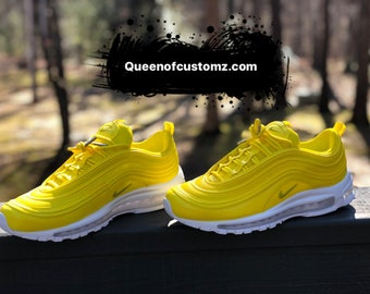 buy popular 27b2c d2bc1 Lemon Yellow Nike Air Max 97 Custom (PLEASE READ)