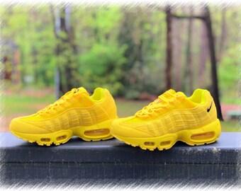 c33f7a4d78 Lemon Yellow Nike Air Max 95 Custom (PLEASE READ)