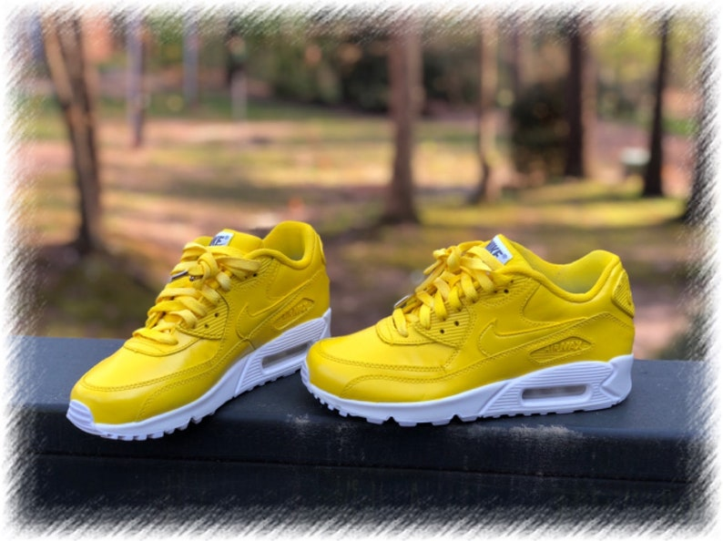 722361a0ef Sunshine Yellow Nike Air Max 90 Customs | Etsy