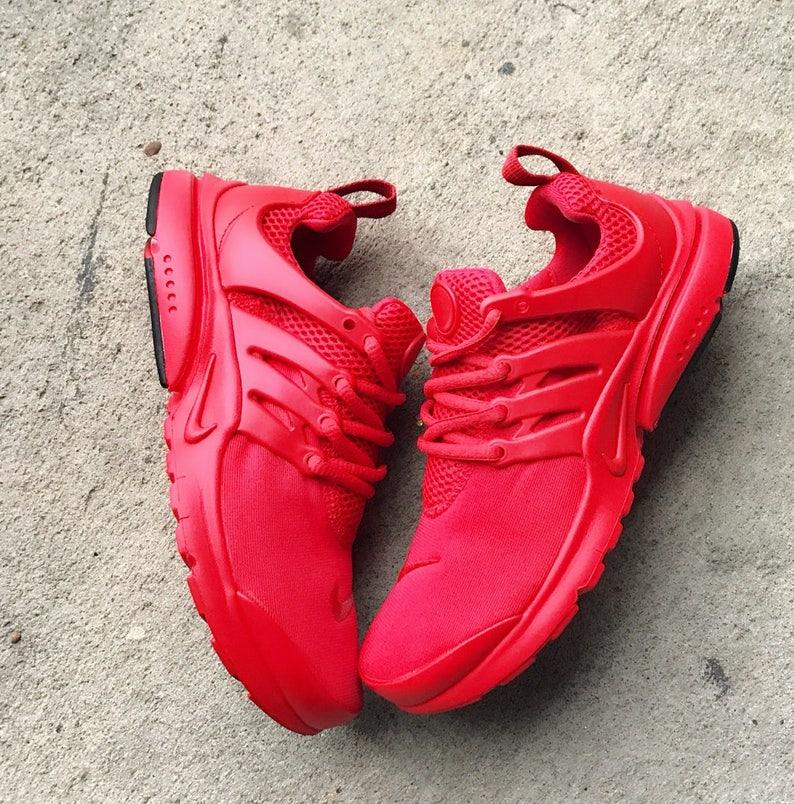 679dbf739a56f Fire Red Nike Presto Custom Limited Sizes