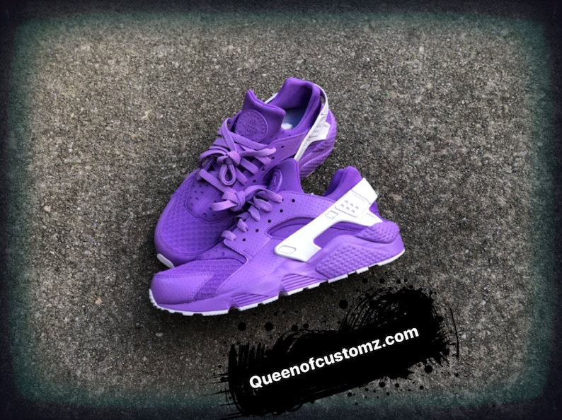 purchase cheap dd2fe 14971 Lilac Nike Huarache custom   Etsy
