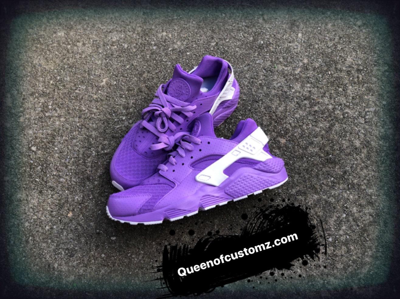 92f5272725bb Lilac Nike Huarache (custom). 1