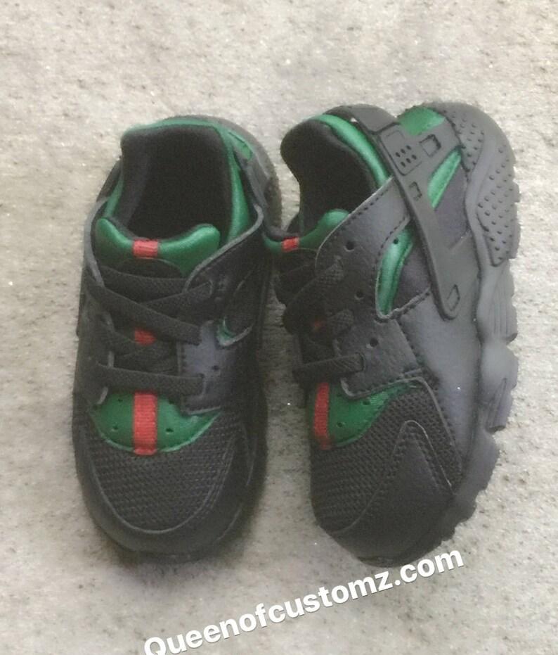 615afcef06f720 Black Inspired Nike huaraches custom
