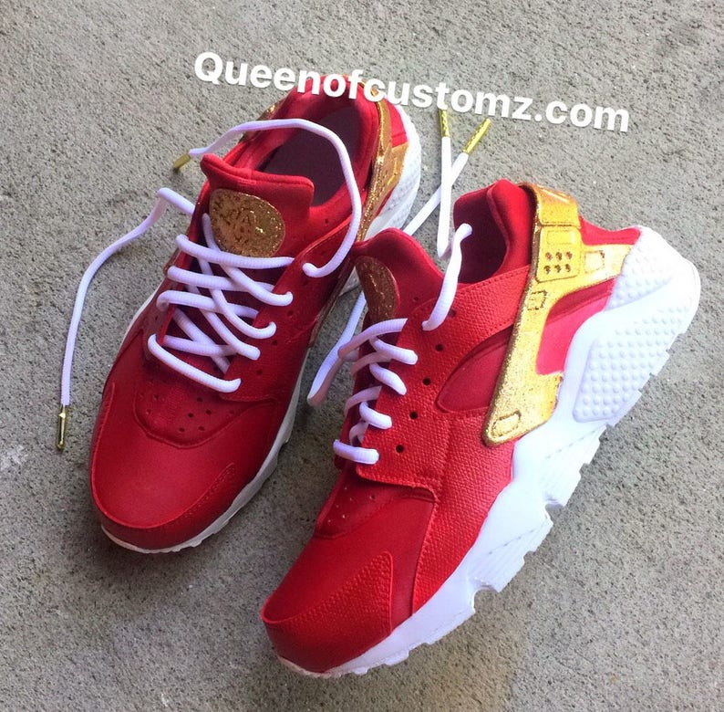 db2a17633383 CrimsonNGold Nike Huarache Custom Unisex