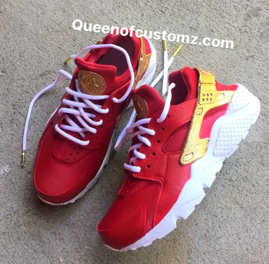 7df6dd2a46b20 CrimsonNGold Nike Huarache Custom (Unisex). 1