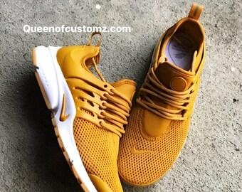 Mustard Yellow Nike Presto Custom