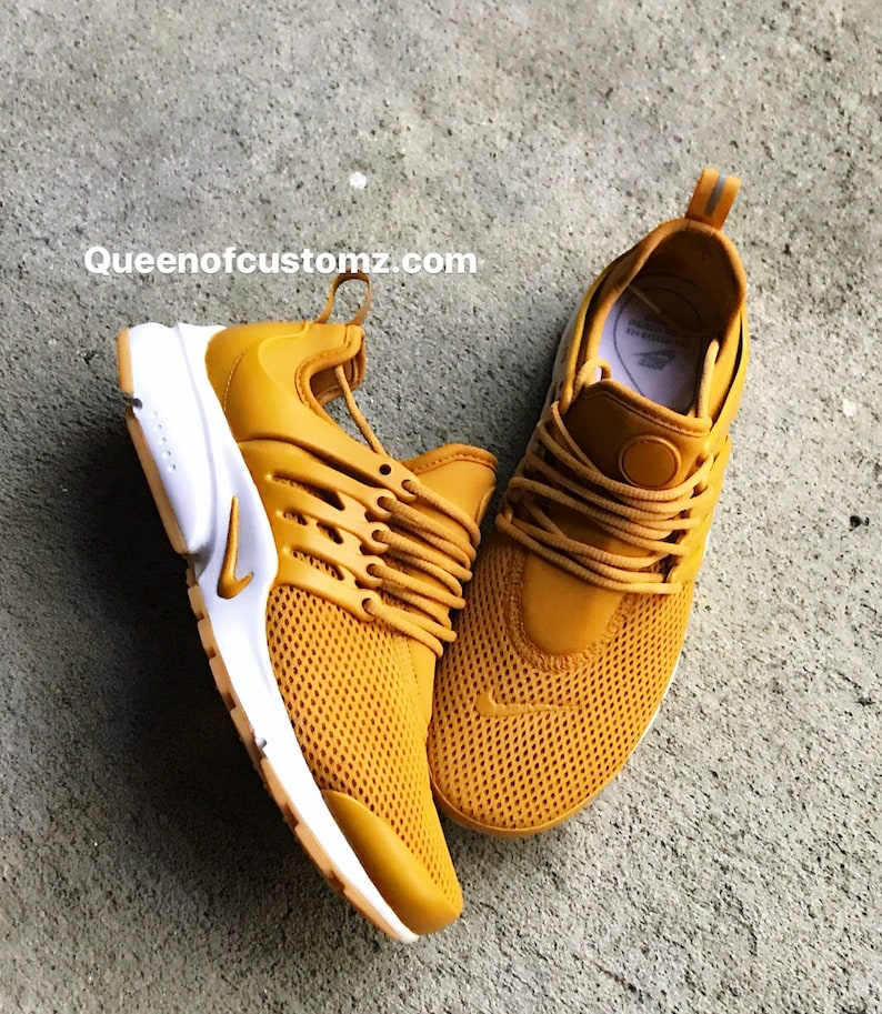 reputable site 73477 06110 Mustard Yellow Nike Presto Custom Women