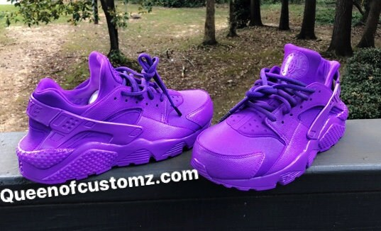 b0fff062300a4 Purple Grapes Nike Huarache Customs. 1