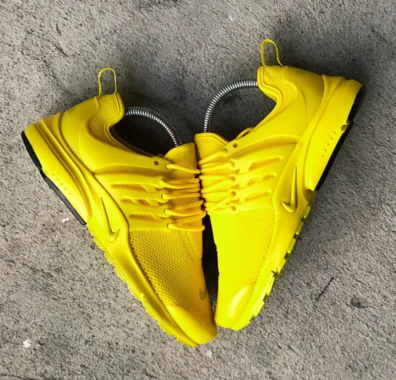 912434a748a48f Sunshine Yellow Nike Presto Custom PLEASE READ DESCRIPTION