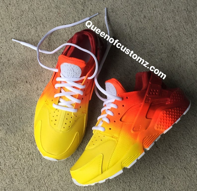 0a0cf50dabe2 Sunset Nike Huaraches Custom