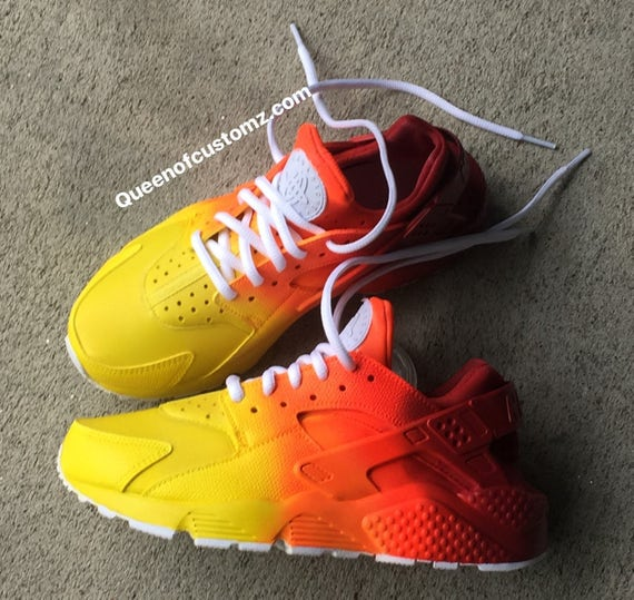 Sunset Nike Huaraches Nike Custom Sunset Pwp6fZq