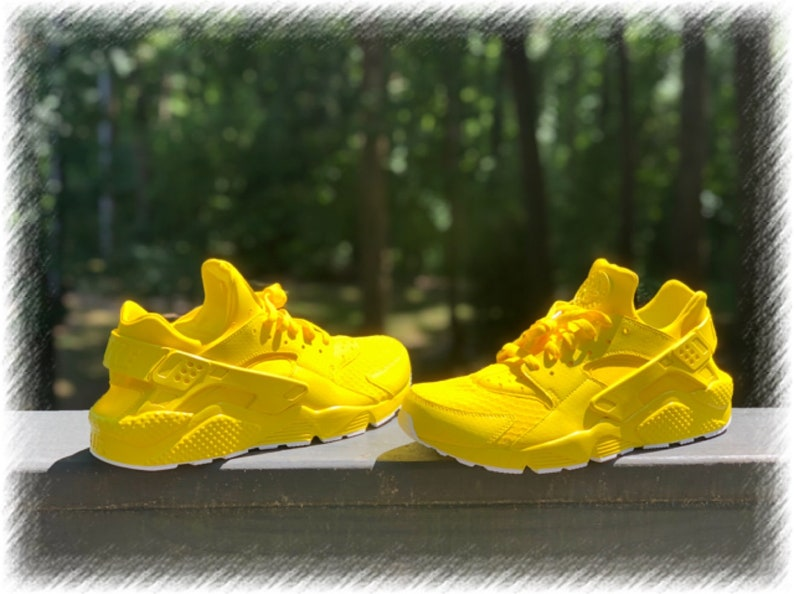 lowest price fce13 565c4 Sunshine Yellow Nike huaraches custom   Etsy