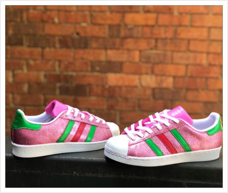 adidas superstar pink glitzer