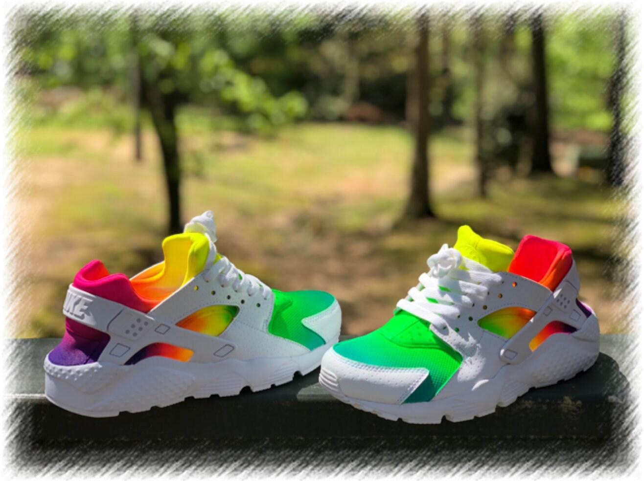 79835c9e0287b Tye Dye Nike huaraches custom. 1