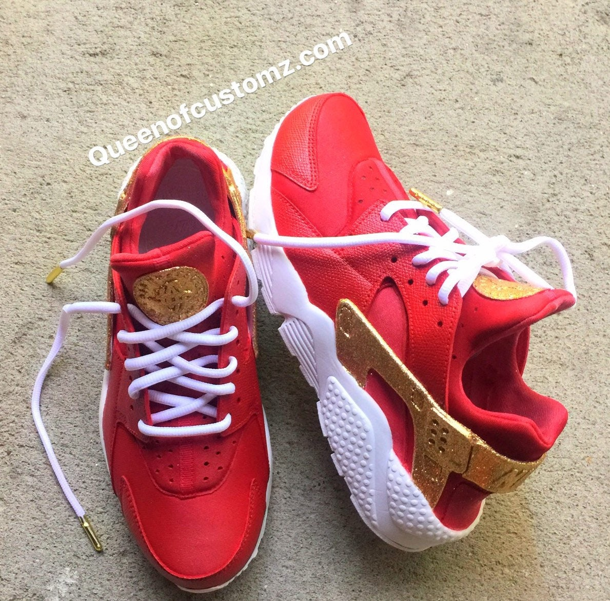 fda085d702b2 CrimsonNGold Nike Huarache Custom (Unisex)