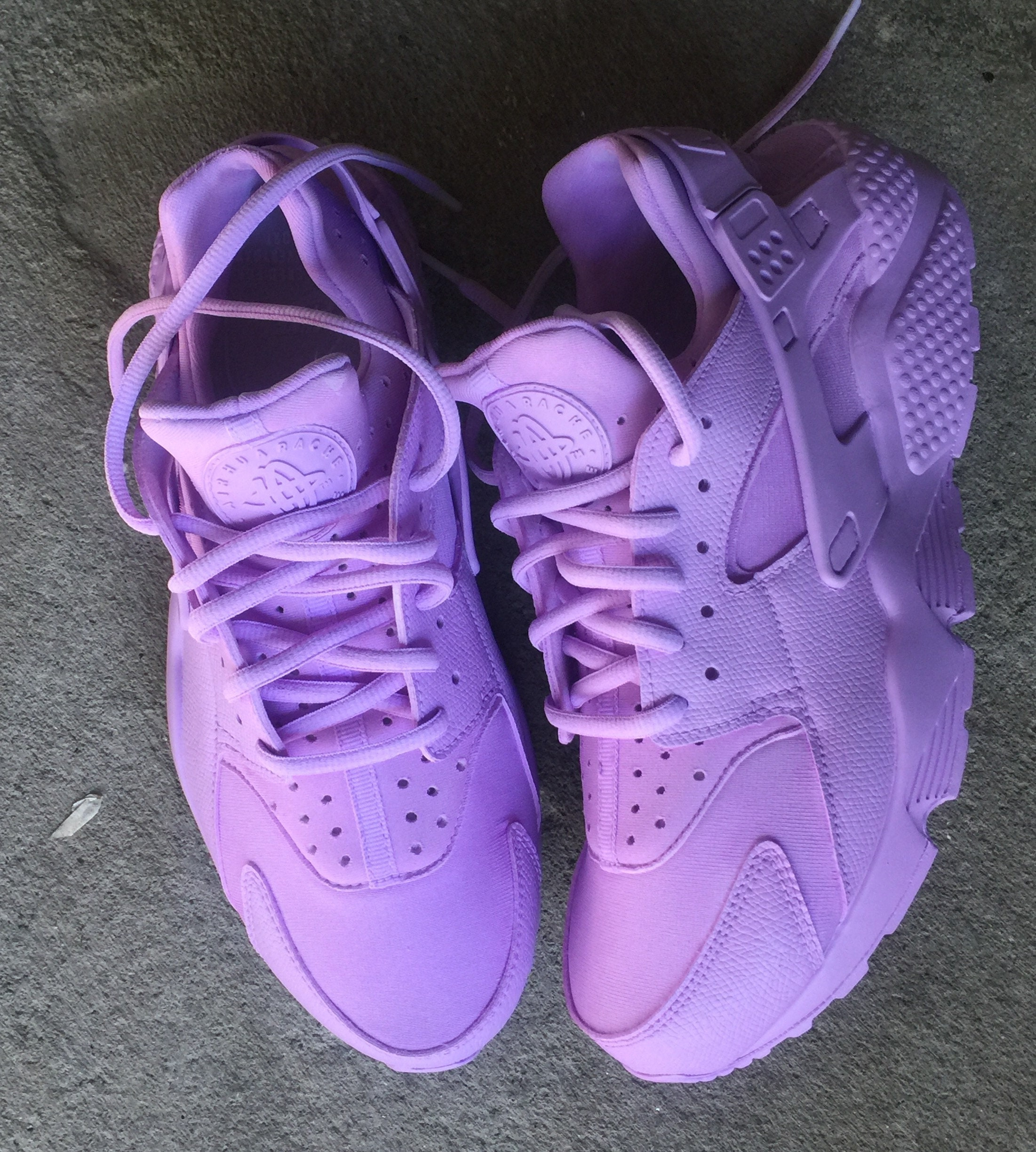 buy online 0a606 a5565 Lavender Purple Nike Huarache Customs. 1