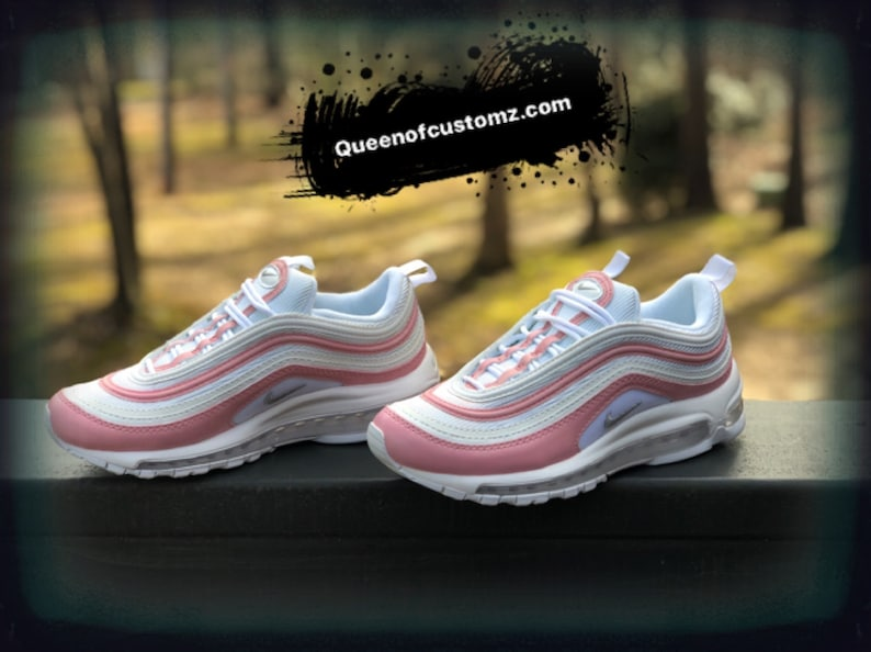 buy online 4afc6 470ed Pink Rose Nike Air Max 97 Custom PLEASE READ   Etsy