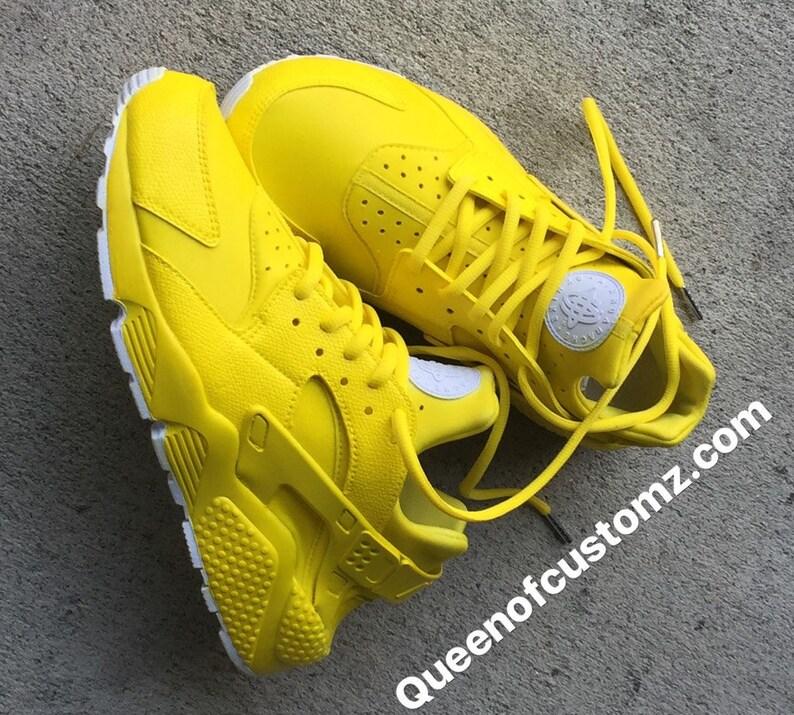 c1a6a10ee6f48 Sunshine Yellow Nike huaraches custom