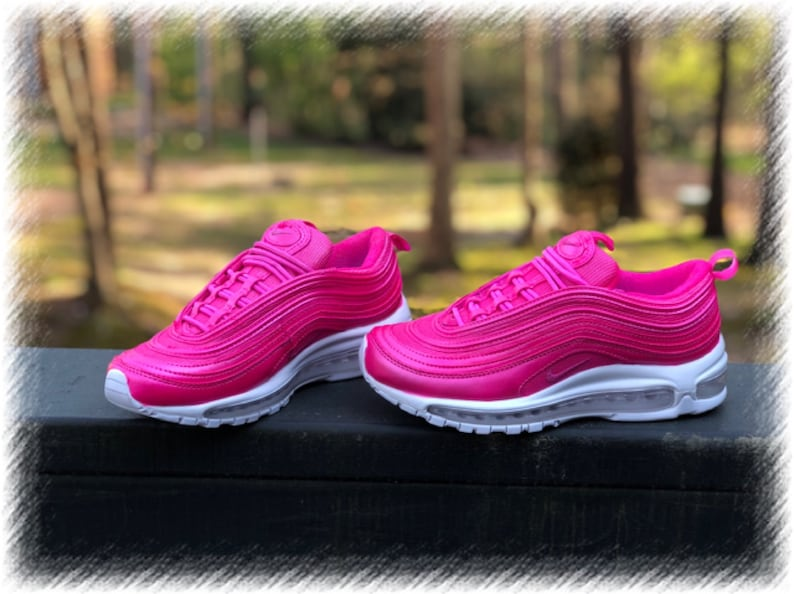wholesale dealer b90cd ea96b Pretty Pink Nike Air Max 97 Customs