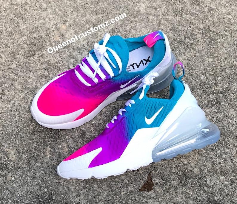 regarder 178e1 16b13 Summer Color Fusion Nike Air Max 270 Custom