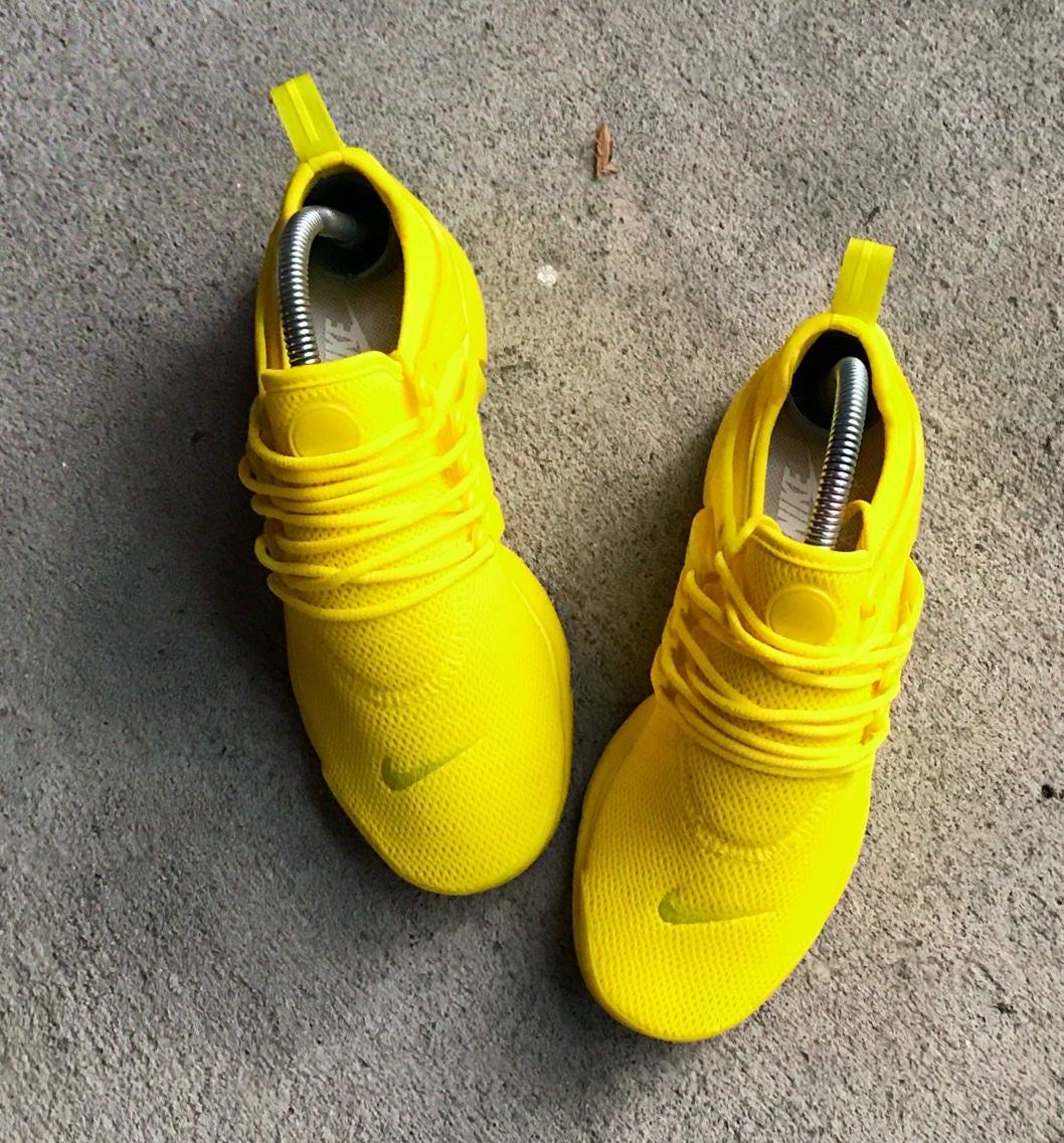 6ce701aa1cc1f0 Sunshine Yellow Nike Presto Custom (PLEASE READ DESCRIPTION)