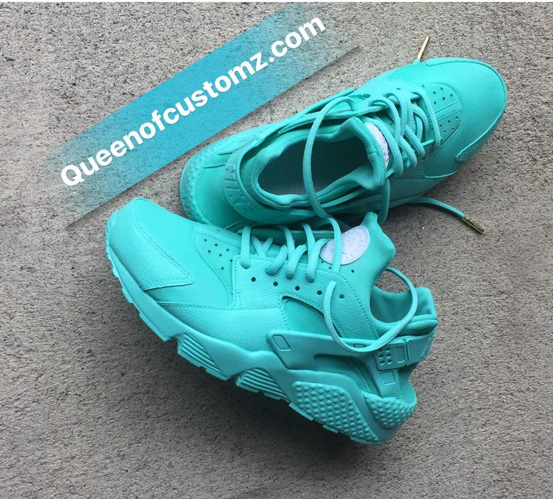 pretty nice c7a18 c393b Turquoise Blue Nike huaraches Custom. 1
