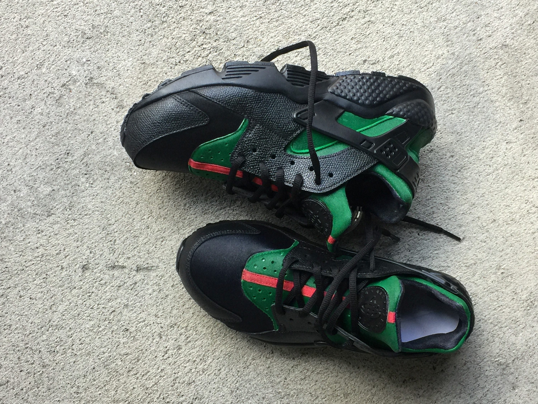 f1d16b11a82880 Black Inspired Nike huaraches custom