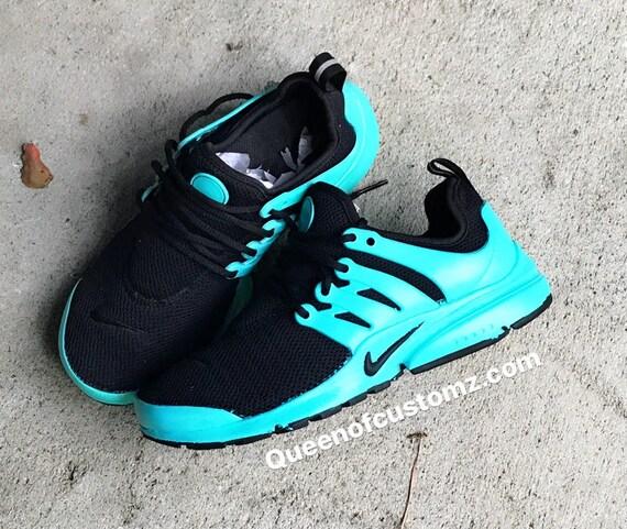 cc2d4720e73 Turquoise and Black Nike Presto Custom