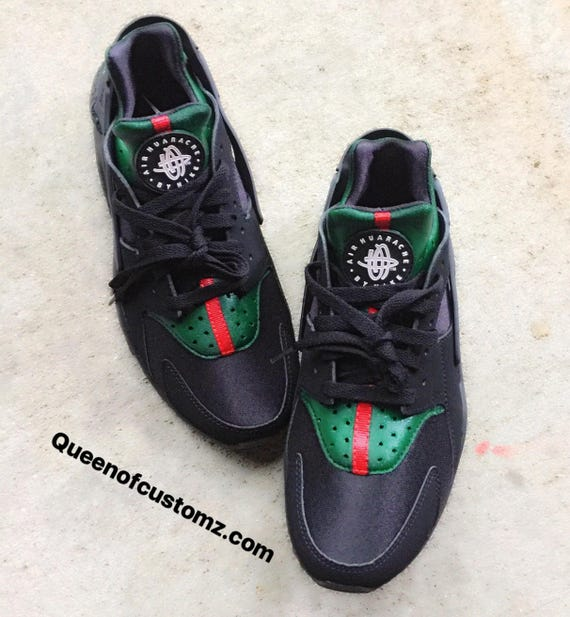 the latest 8cde8 64276  102.00  120.00 Black Inspired Nike huaraches custom