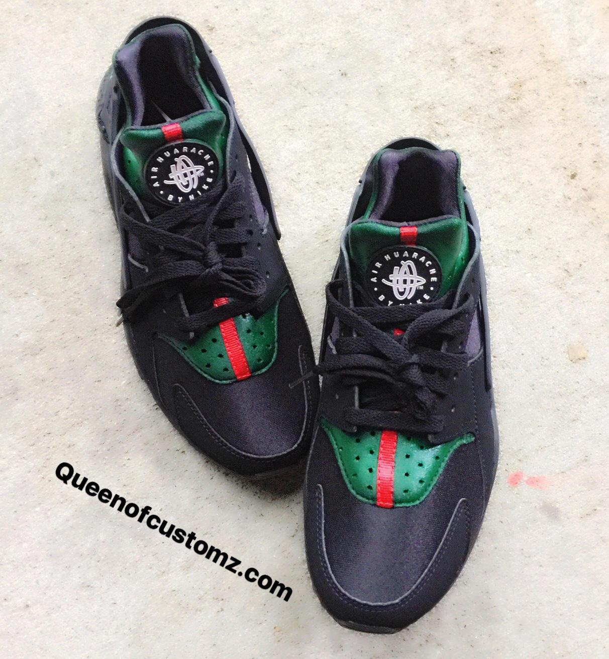 97538c7679ee9f Black Inspired Nike huaraches custom. 1
