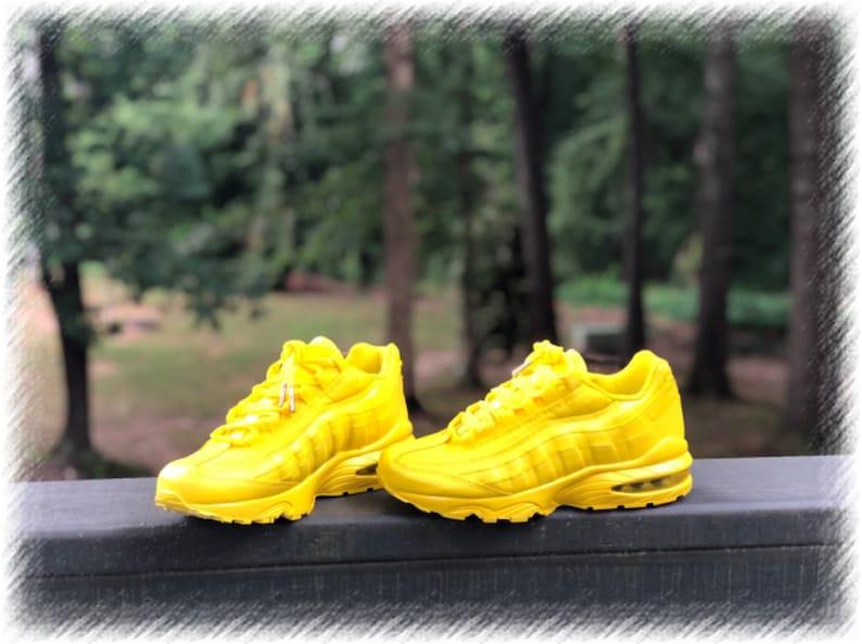best service cheap price official supplier Lemon Yellow Nike Air Max 95 Custom (PLEASE READ)