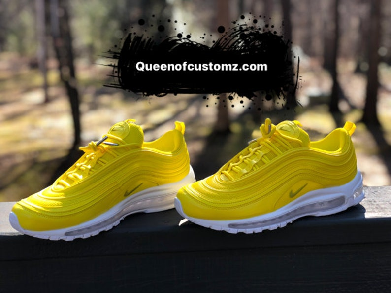 buy popular 8f142 7cb63 Lemon Yellow Nike Air Max 97 Custom (PLEASE READ)
