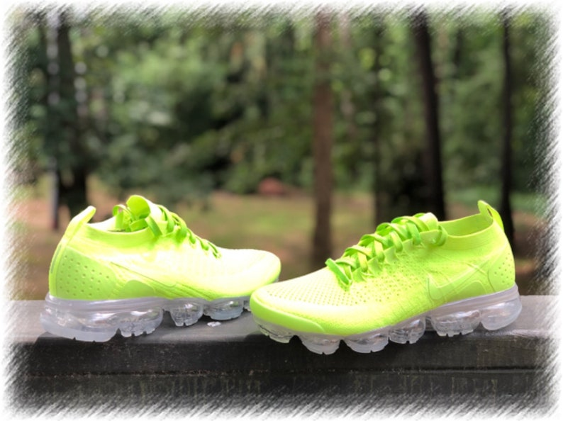 separation shoes aeaab 5b314 Lemon Lime Nike Air Vapormax Flyknit 2 Custom (PLEASE READ)