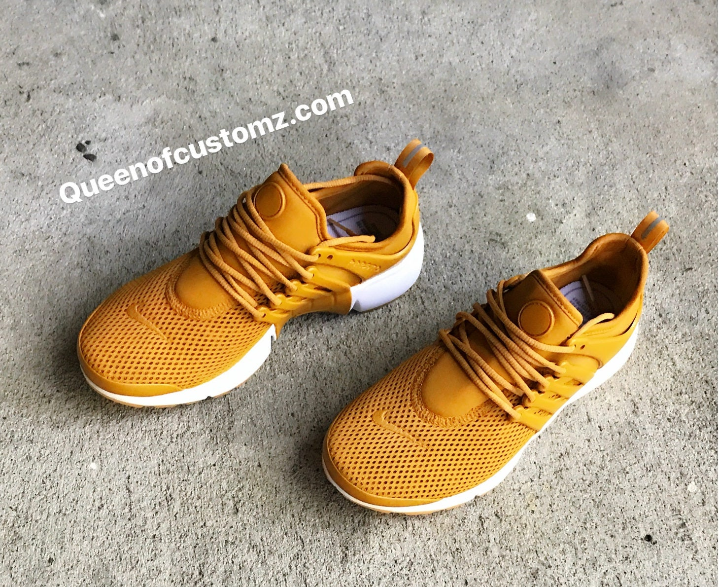 reputable site 1eb2d 98bce Mustard Yellow Nike Presto Custom Women