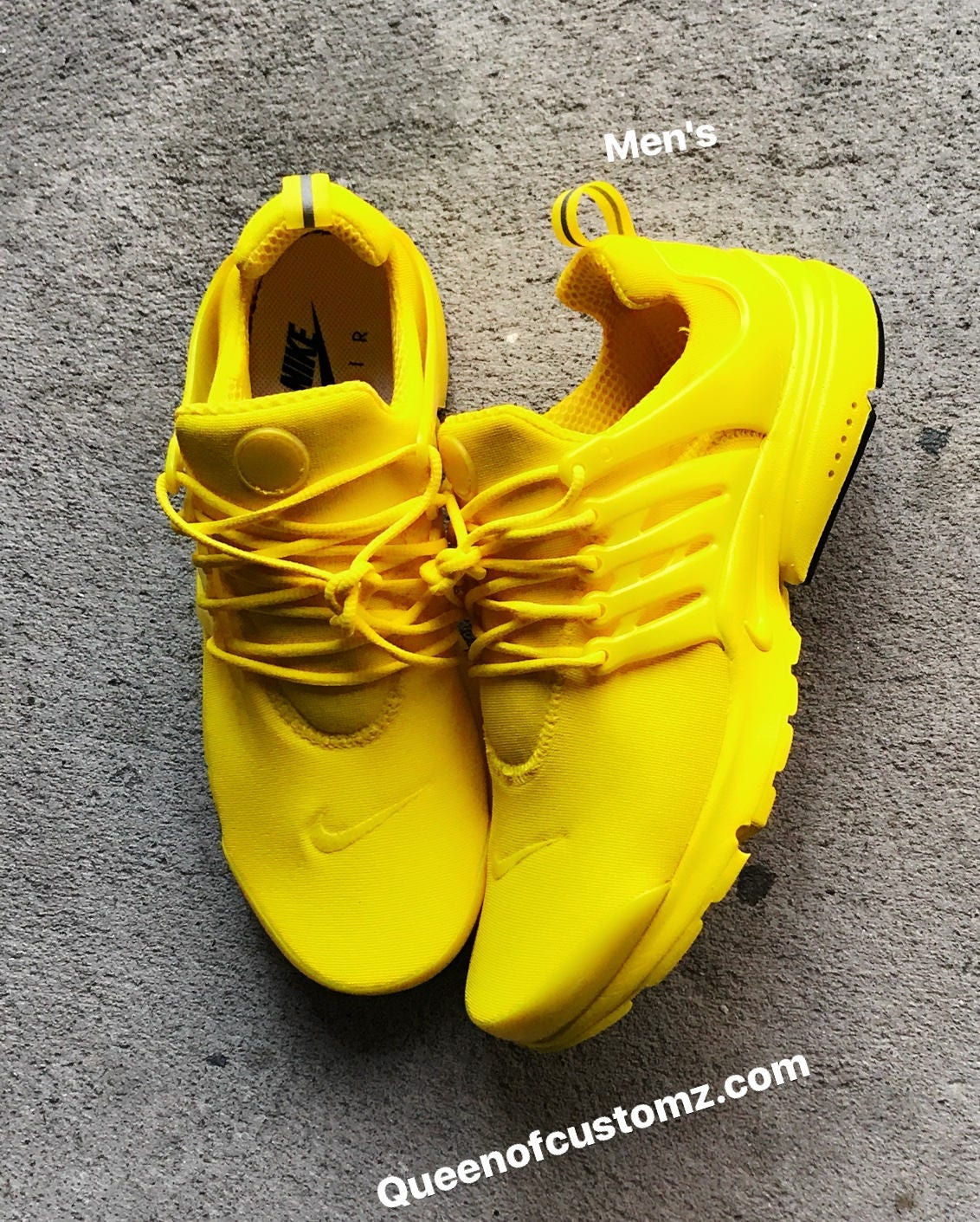 new products 7baf1 43faa Sunshine Yellow Nike Presto Custom (PLEASE READ DESCRIPTION)